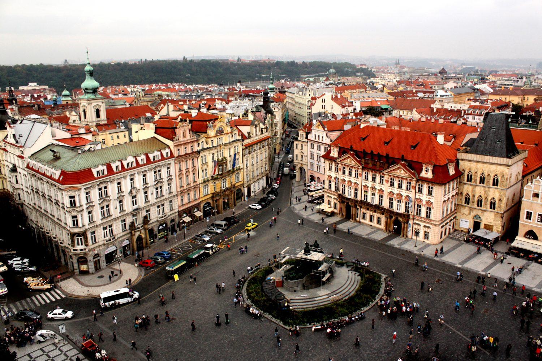 Praga rynek staromiejski Czechy