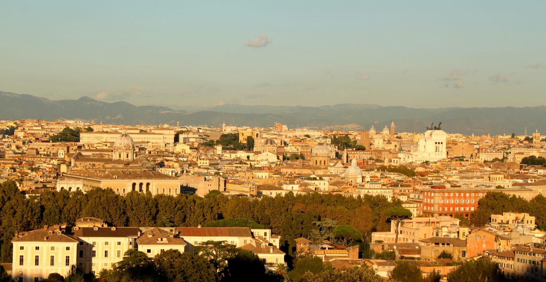 Janikulum Rzym widok