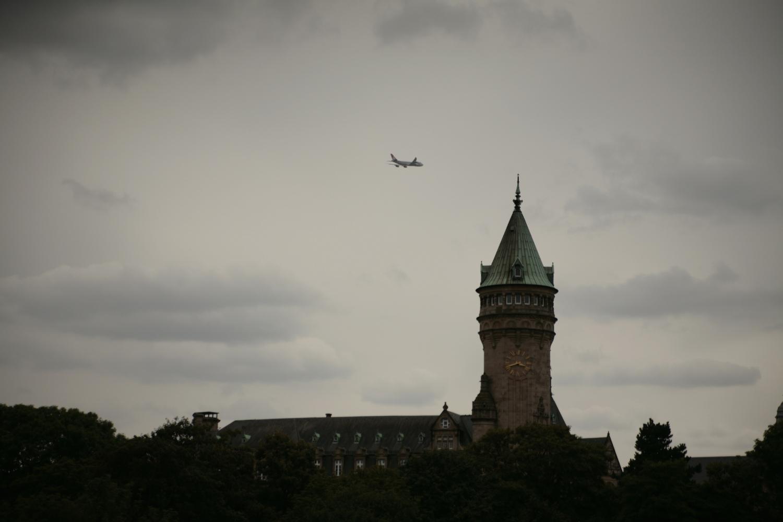 Widok z tarasu widokowego w Luksemburgu