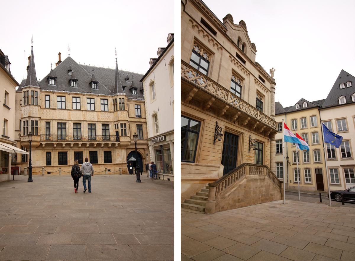 Palac Grand Ducal widziany od strony placu Gulliaume II