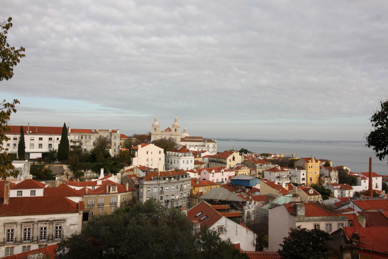 Widok z zamku Lizbona