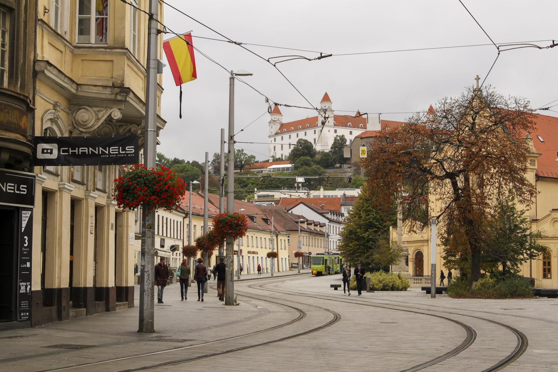 Bratysława widok na zamek