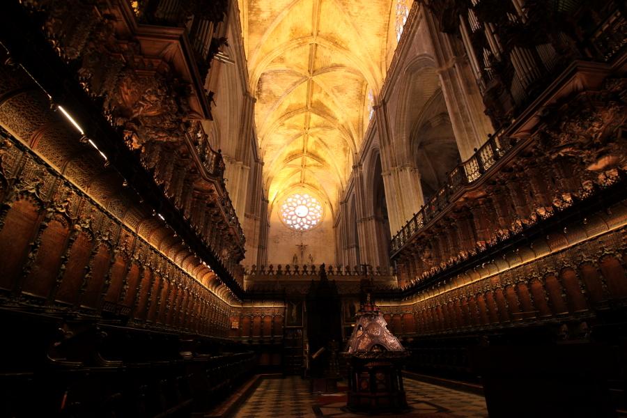 katedra sewilla wnętrze chór