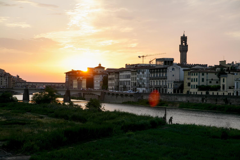 Florencja zachód słońca