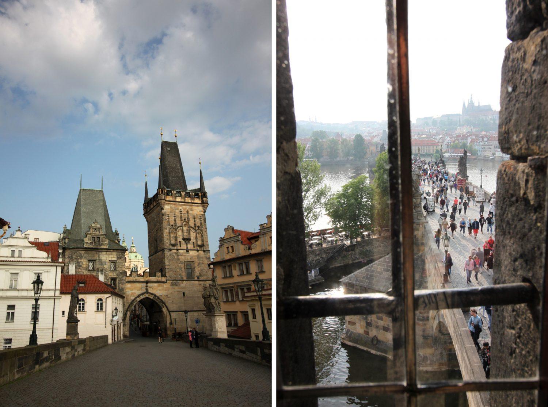Most Karola Praga wieże