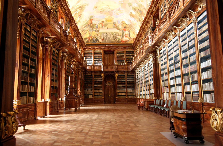 Biblioteka na Strachowie Praga piękne bibiloteki swiata
