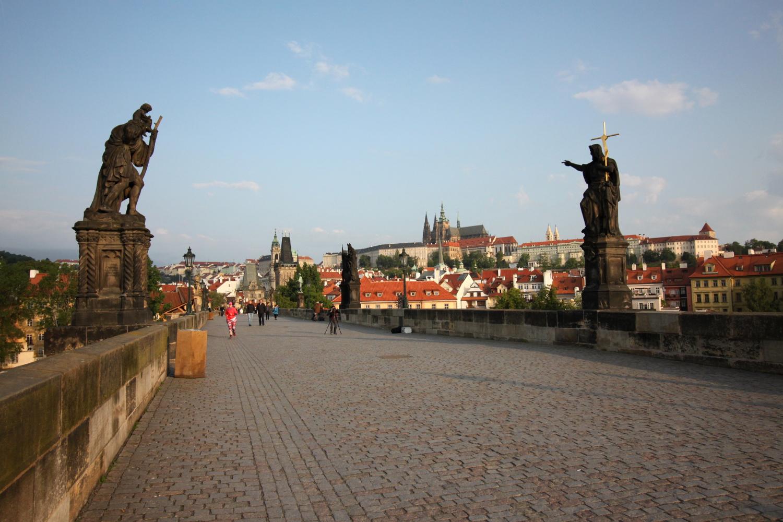 Most Karola Praga widok na Hradczany