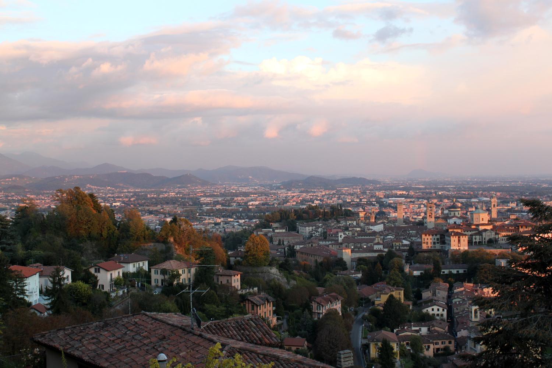 Bergamo widok Citta Alte