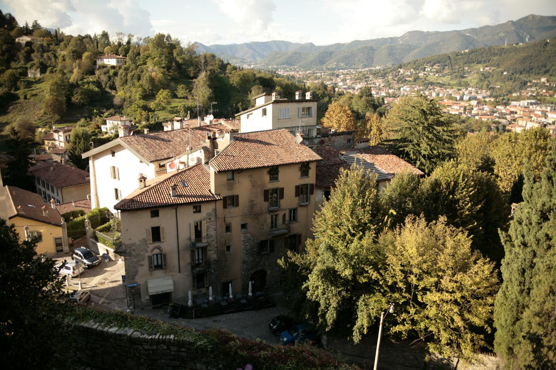 Bergamo widok Alpy