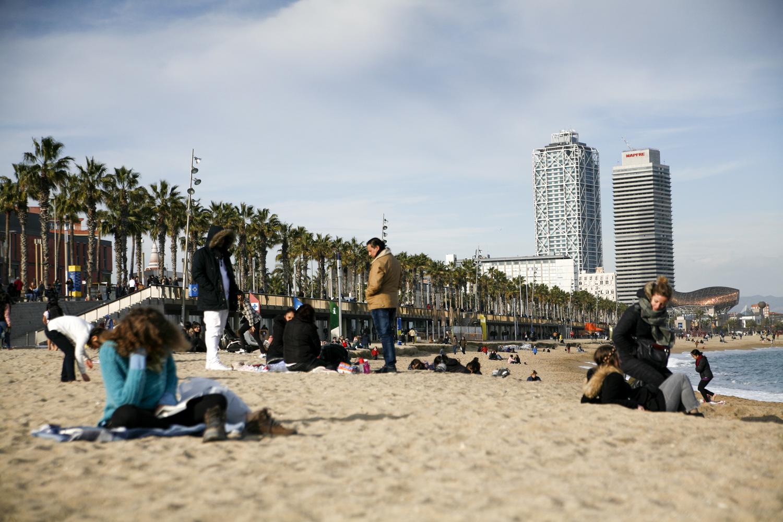Barcelona plaża Barceloneta