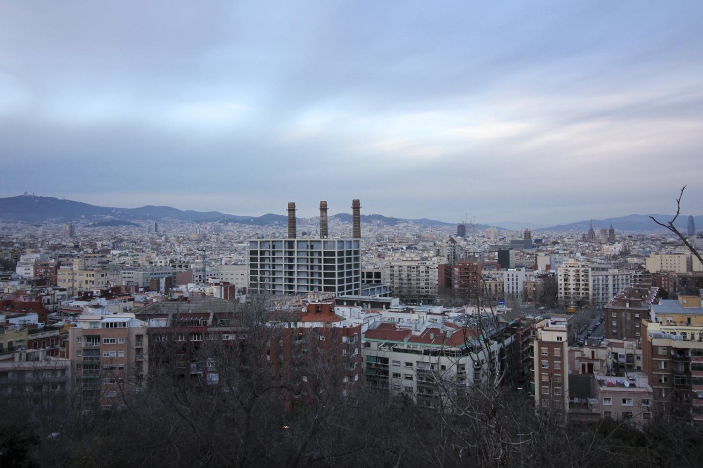 Barcelona wzgórze saint montjuik widok