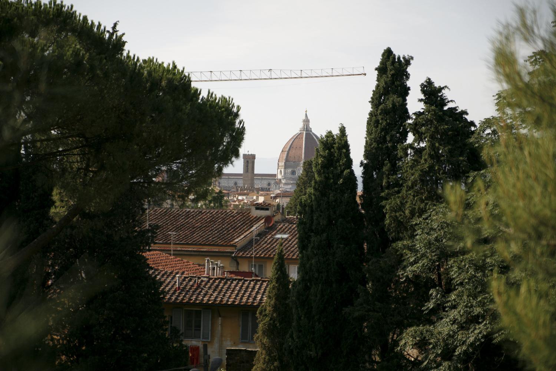 Florencja-ogród rożany widok