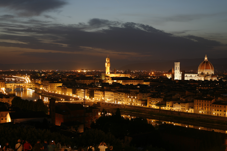 Florencja widok nocą