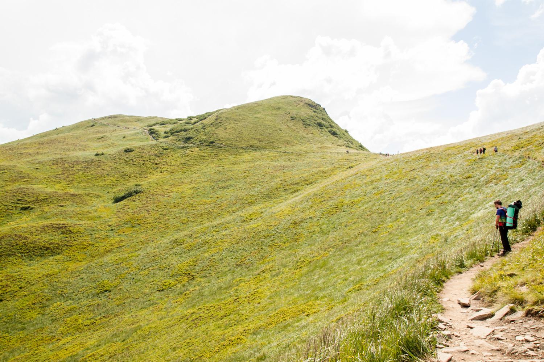 Tarnica widok z Przełęczy Goprowej